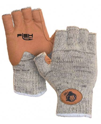 FISH MONKEY WOOLY HALF FINGER GLOVES Fly Dressing - 1