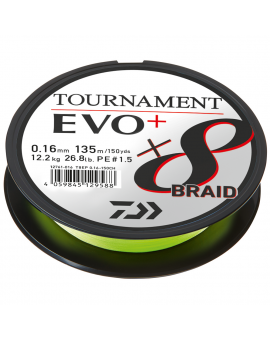 DAIWA TOURNAMENT X8 BRAID EVO+ CHARTREUSE Daiwa - 1