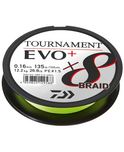 DAIWA TOURNAMENT X8 BRAID EVO+ CHARTREUSE Daiwa - 1
