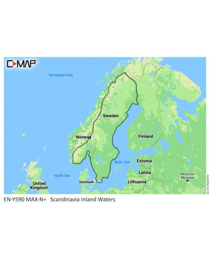 C-MAP M-EN-Y590-MS SCANDINAVIA INLAND WATERS  - 1