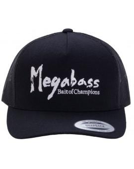 MEGABASS TRUCKER HAT BRUSH LOGO BLACK/WHITE Megabass - 1