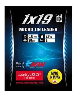 LUCKY JOHN 19-STRAND MICRO JIG LEADER 2,8KG, 20CM
