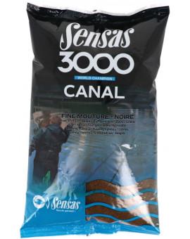 3000 CANAL FINE TEXTURE NOIRE 1KG Sensas - 1