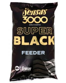 3000 SUPER BLACK FEEDER 1KG Sensas - 1