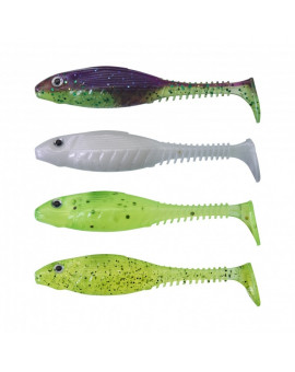 GUNKI GRUBBY SHAD 8,5CM DARK WATER KIT