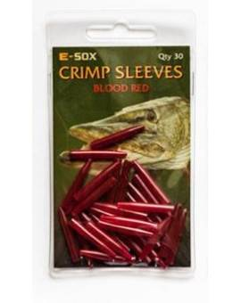 E-SOX CRIMP SLEEVES BLOOD RED